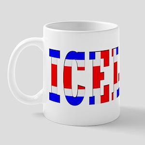 Iceland Map (Word) Mug