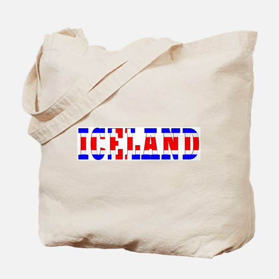 Iceland Map (Word) Tote Bag