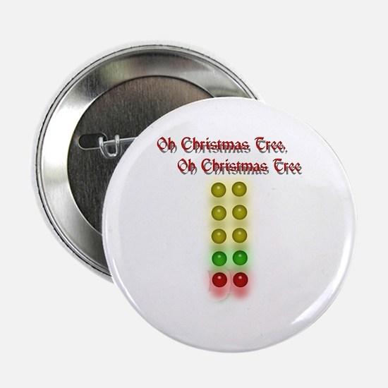"Drag Race Christmas Tree 2.25"" Button"