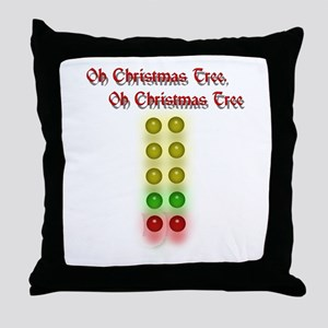 Drag Race Christmas Tree Throw Pillow