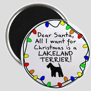 Dear Santa Lakeland Terrier Christmas Magnet