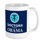 DOCTORS FOR OBAMA Dark Large Mug