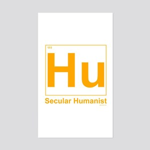 Secular Humanist Rectangle Sticker