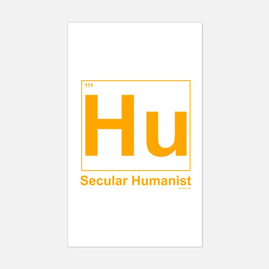 Secular Humanist Rectangle Decal