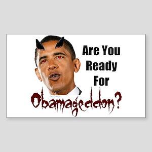 Ready For Obamageddon Rectangle Sticker