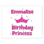 1st Birthday Princess Emmalis Small Poster