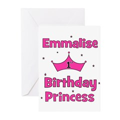 1st Birthday Princess Emmalis Greeting Cards (Pk o