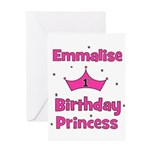 1st Birthday Princess Emmalis Greeting Card