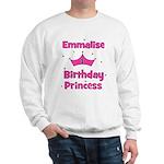 1st Birthday Princess Emmalis Sweatshirt