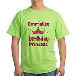 1st Birthday Princess Emmalis Green T-Shirt