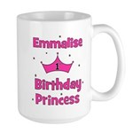 1st Birthday Princess Emmalis Large Mug