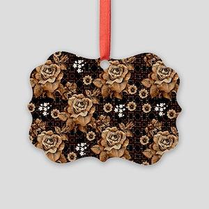 Copper Roses Picture Ornament