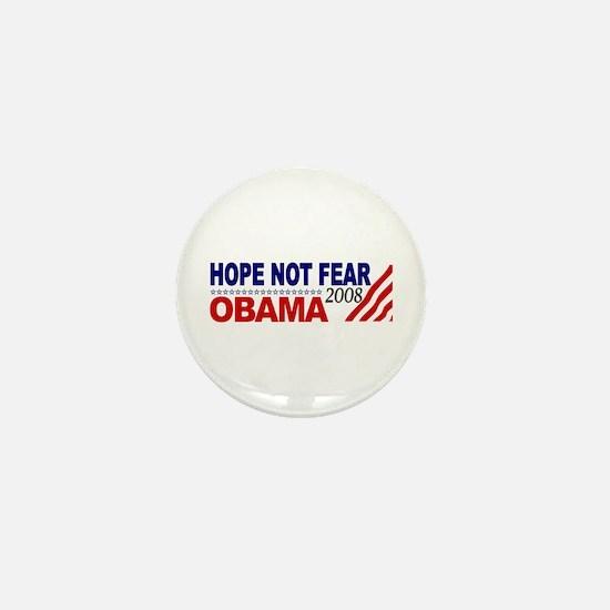 Hope not Fear Obama 2008 Mini Button