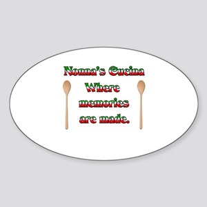 Nonna's (Italian Grandmother) Cucina Sticker (Oval