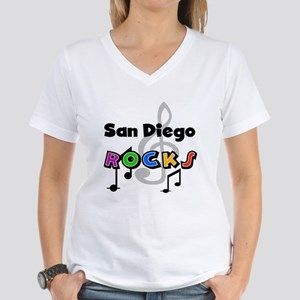 San Diego Rocks Women's V-Neck T-Shirt