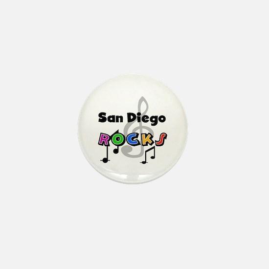 San Diego Rocks Mini Button