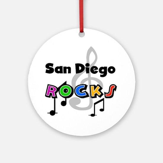 San Diego Rocks Ornament (Round)
