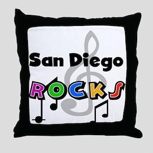 San Diego Rocks Throw Pillow