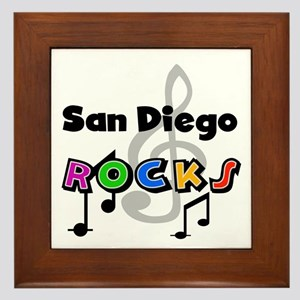 San Diego Rocks Framed Tile