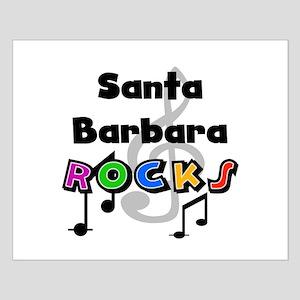 Santa Barbara Rocks Small Poster