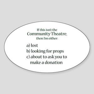 I'm Lost Oval Sticker