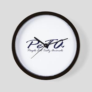 PETA (People Eat Tasy Animals) Wall Clock