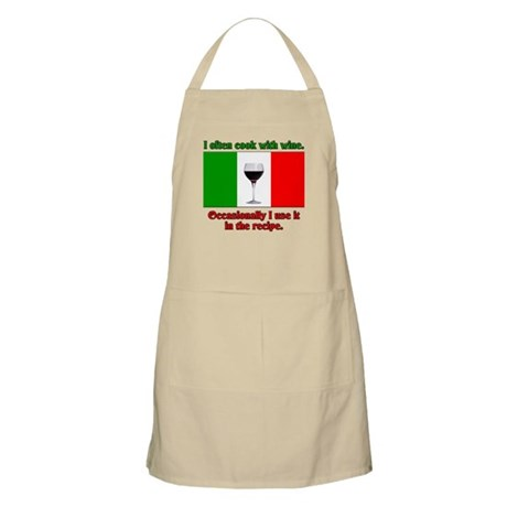 I Often Cook With Wine BBQ Apron