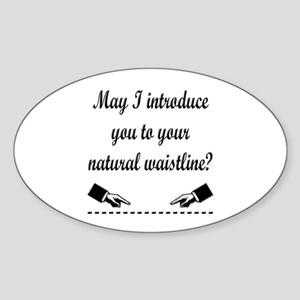 Natural Waistline Oval Sticker