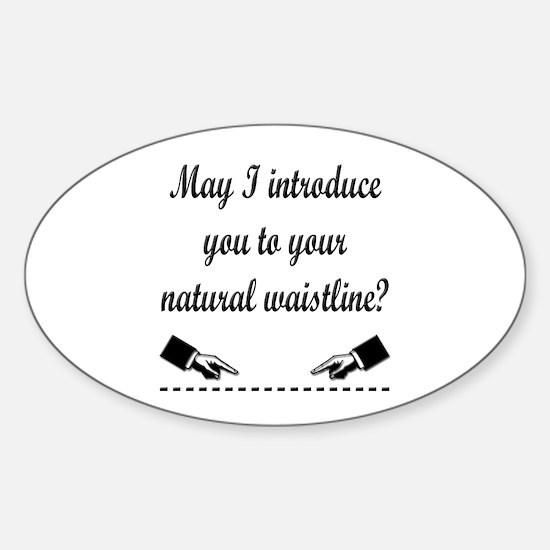 Natural Waistline Oval Decal