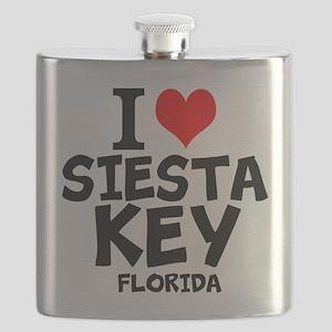 I Love Siesta Key, Florida Flask