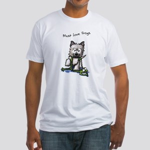 Must Love Frogs Cairn Fitted T-Shirt