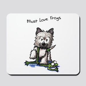 Must Love Frogs Cairn Mousepad