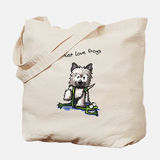 Must Love Frogs Cairn Tote Bag