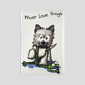 Must Love Frogs Cairn Rectangle Magnet