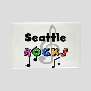 Seattle Rocks Rectangle Magnet