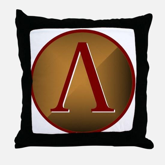 Spartan Shield w/ Lambda Throw Pillow
