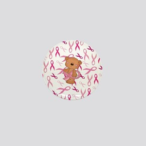 Breast Cancer Awareness Bear Mini Button