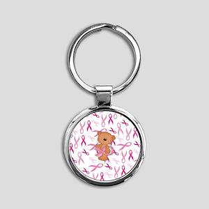 Breast Cancer Awareness Bear Keychains