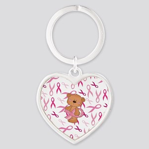 Breast Cancer Awareness Bear Keychains
