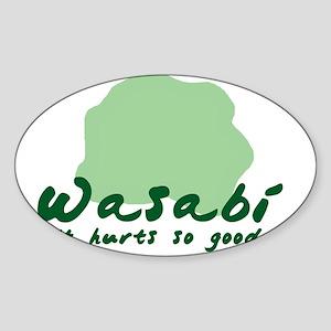 Wasabi! Oval Sticker
