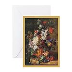 Birthday: Bouquet-Huysum, Age-33 Greeting Cards