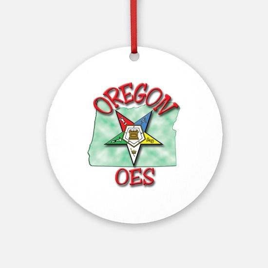 Oregon Eastern Star Ornament (Round)