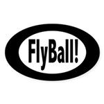 FlyBall! Oval Sticker