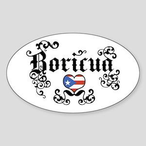 Boricua Oval Sticker