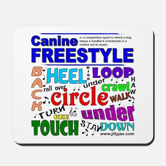 Canine Freestyle Mousepad