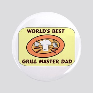 "Father's Day Grill Master Dad 3.5"" Button"