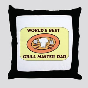 Father's Day Grill Master Dad Throw Pillow