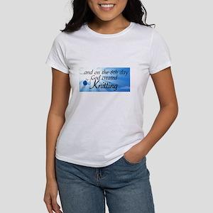 8TH DAY GOD CREATED KNITTING T-Shirt