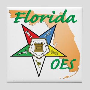 Florida Eastern Star Tile Coaster