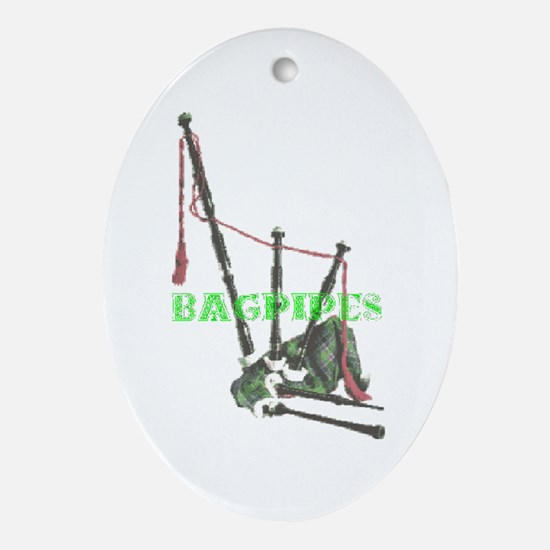 Bagpipes Oval Ornament